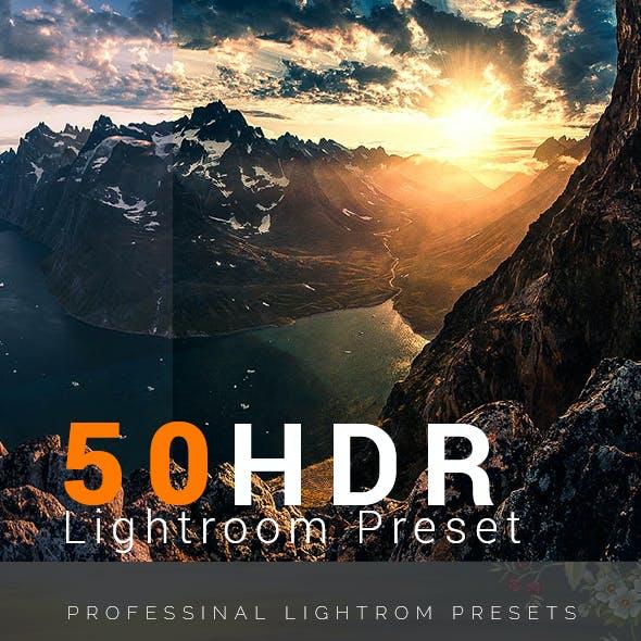 50 HDR  Lightroom Preset