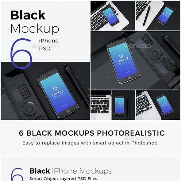 Black Mockups iPhone Pack