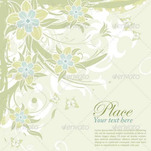 Flower background - Borders Decorative