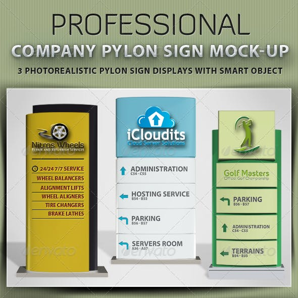 Company Pylon Sign Mock-up