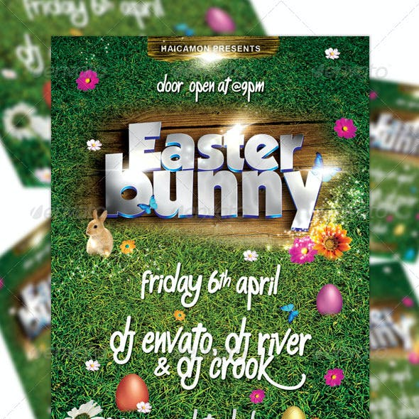 Easter Bunny Party Flyer Vol_2