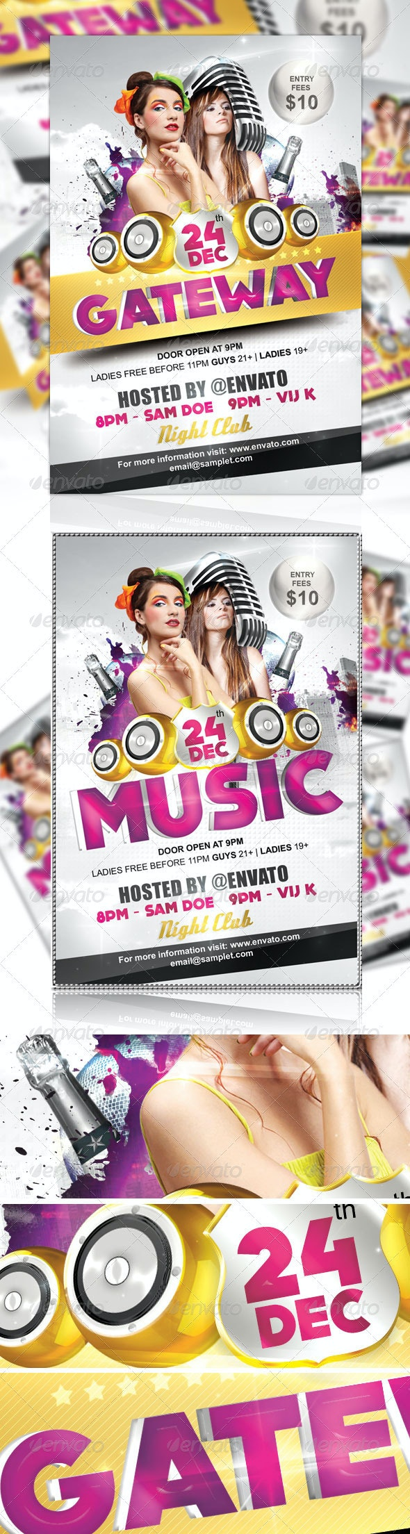Gateway Party Flyer - Clubs & Parties Events