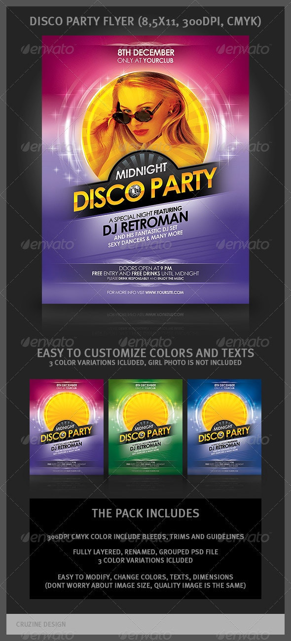 Disco Party Flyer - Clubs & Parties Events