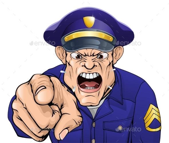 Angry Policeman - People Characters