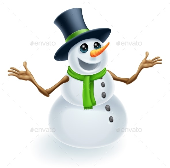 Christmas Snowman - Seasons Nature