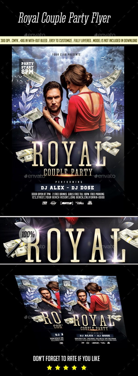 Royal Couple Party Flyer - Clubs & Parties Events