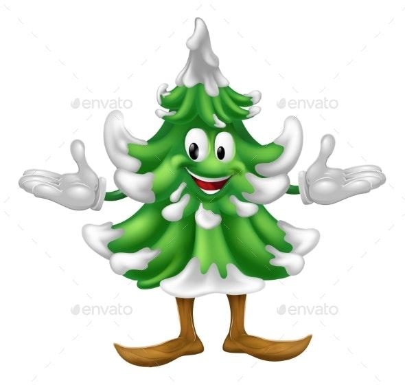 Christmas Tree Mascot Character - Christmas Seasons/Holidays