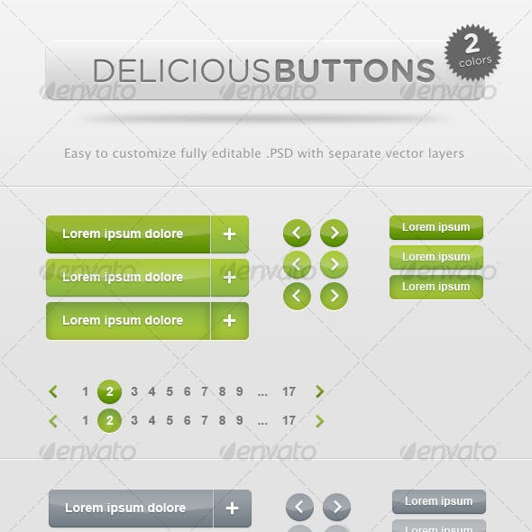 Delicious Buttons