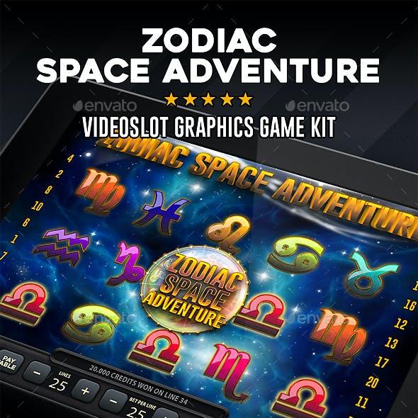 Videoslot Graphics Game Kit - Zodiac Space Adventure