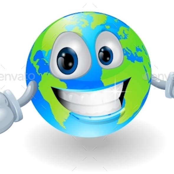 Happy Globe Character