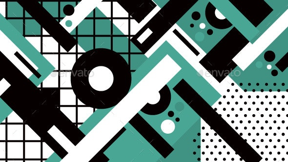 Memphis Geometric Background - Backgrounds Graphics