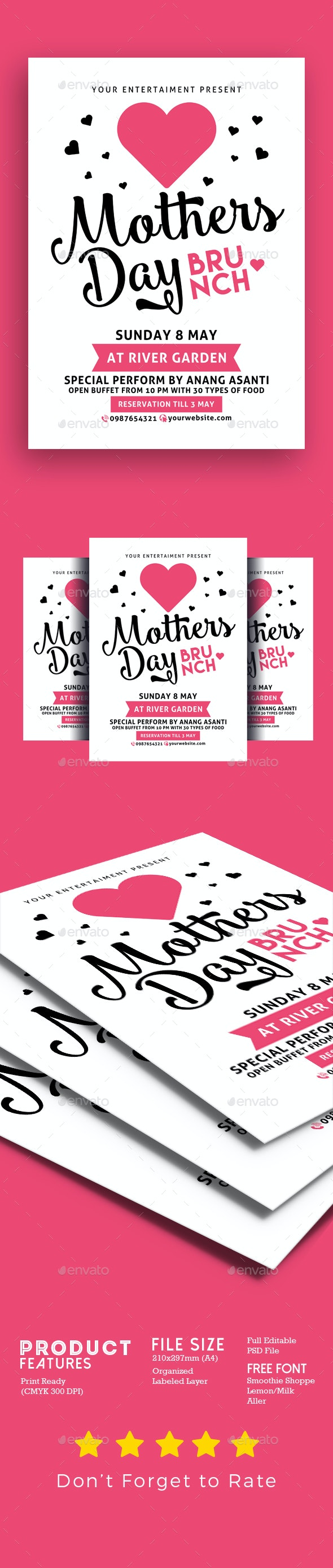Mothers Day Brunch - Events Flyers