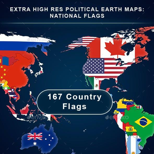 Political World Maps & Globes