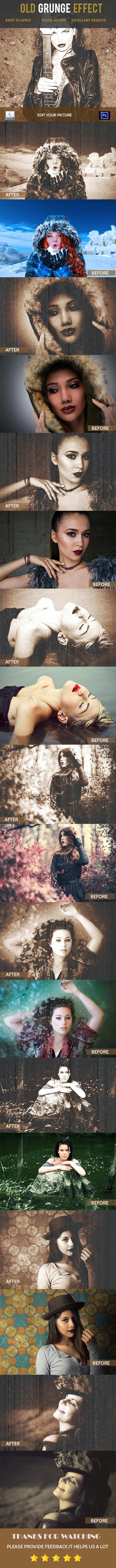Old Grunge Photoshop Action - Photo Effects Actions