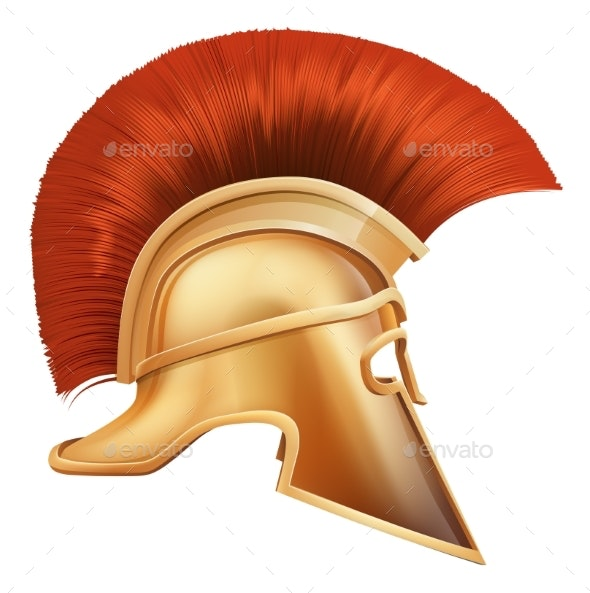 Spartan Helmet Illustration - Man-made Objects Objects