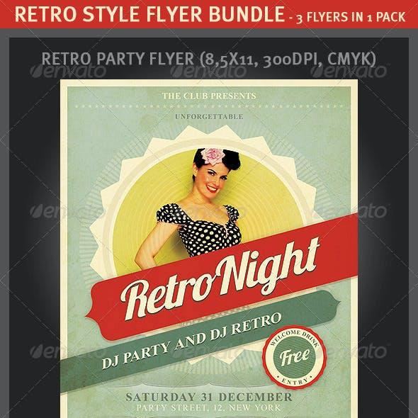 Retro Style Flyer Bundle