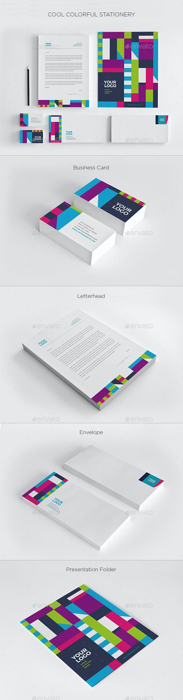 Cool Colorful Stationery - Stationery Print Templates