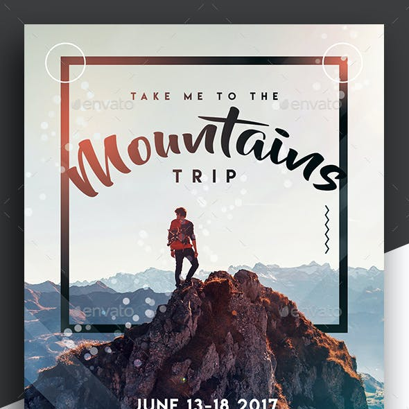 Take Me To The Mountains - Trip Flyer