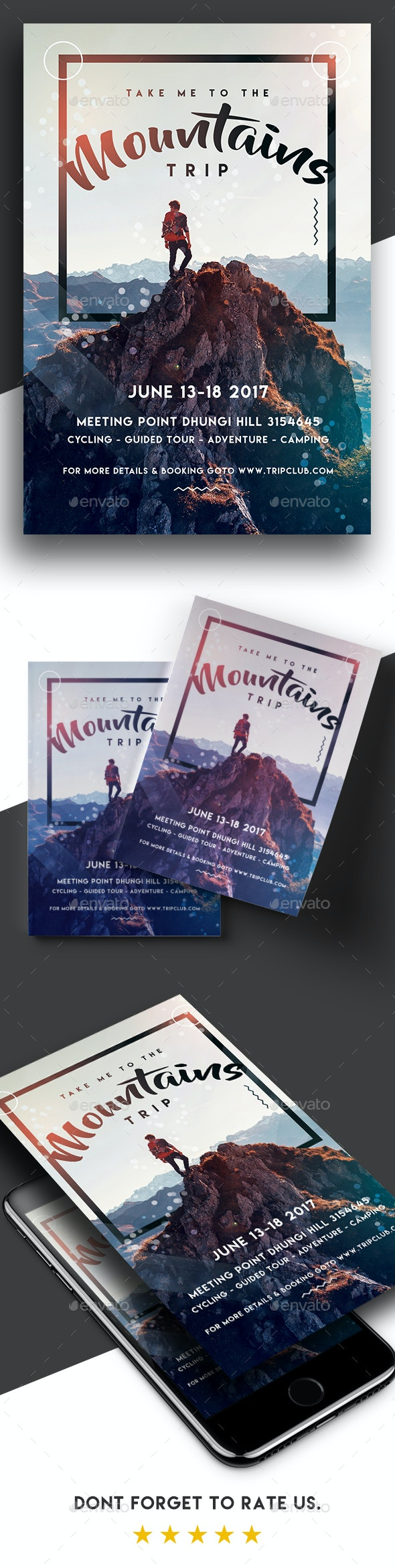Take Me To The Mountains - Trip Flyer - Holidays Events