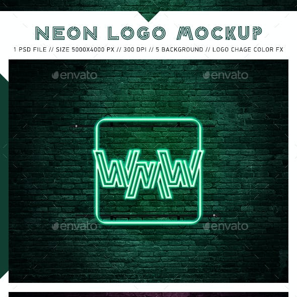 Neon Logo Mockups