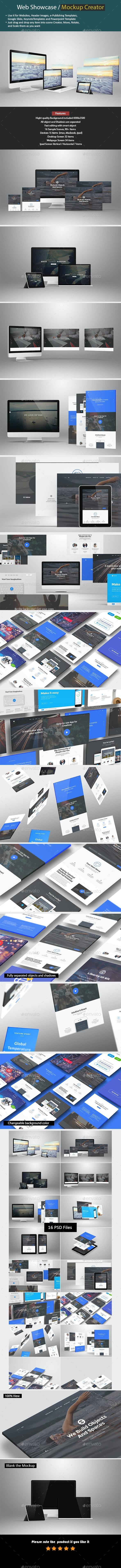 Web Showcase / Mockup Creator - Product Mock-Ups Graphics