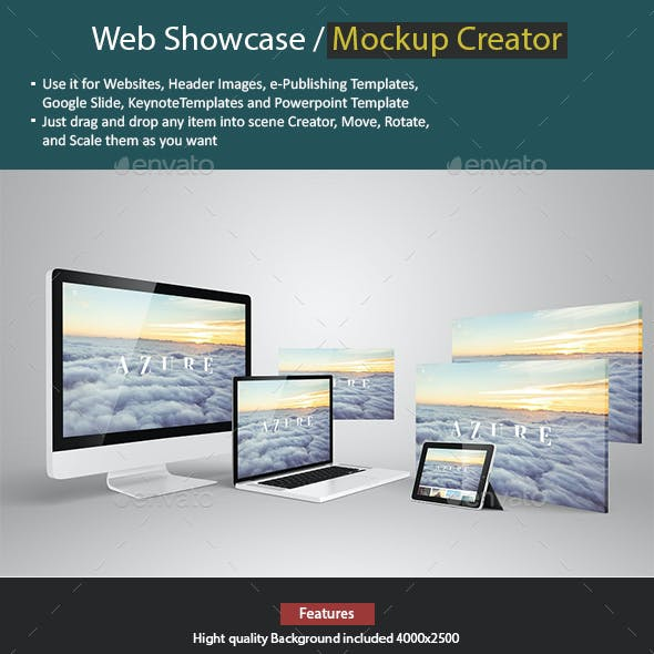 Web Showcase / Mockup Creator