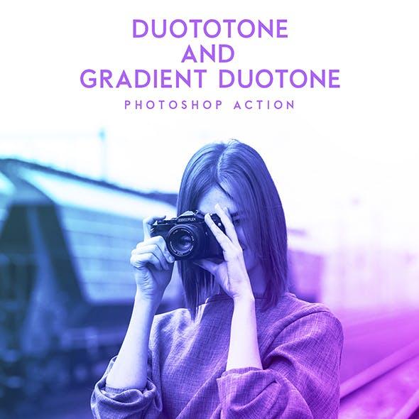 Duotone & Gradient Duotone Photoshop Action
