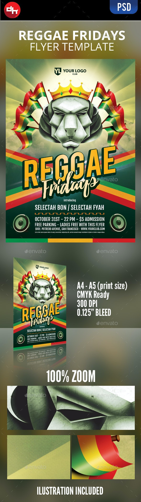 Reggae Fridays - Events Flyers