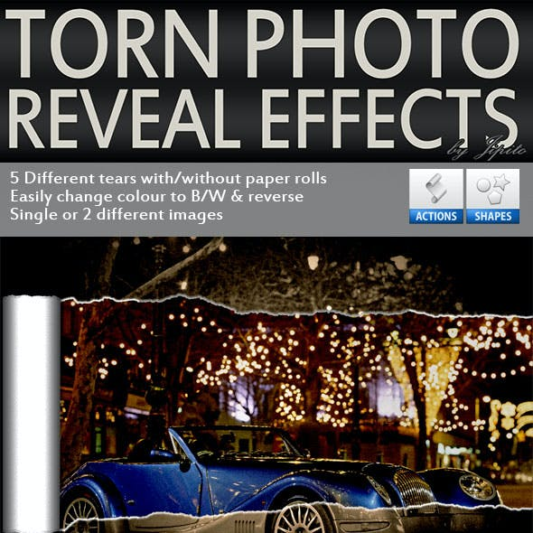 Torn Photo Reveal Effects