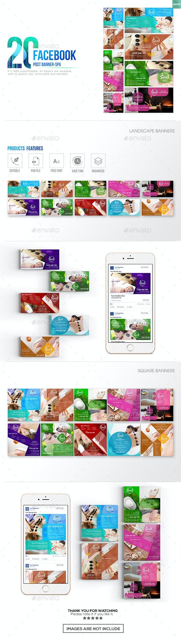 20 Facebook Post Banner - Spa - Miscellaneous Social Media