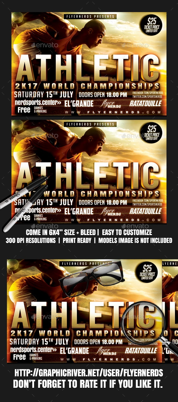 Athletic 2K17 Championships Sports Flyer - Clubs & Parties Events