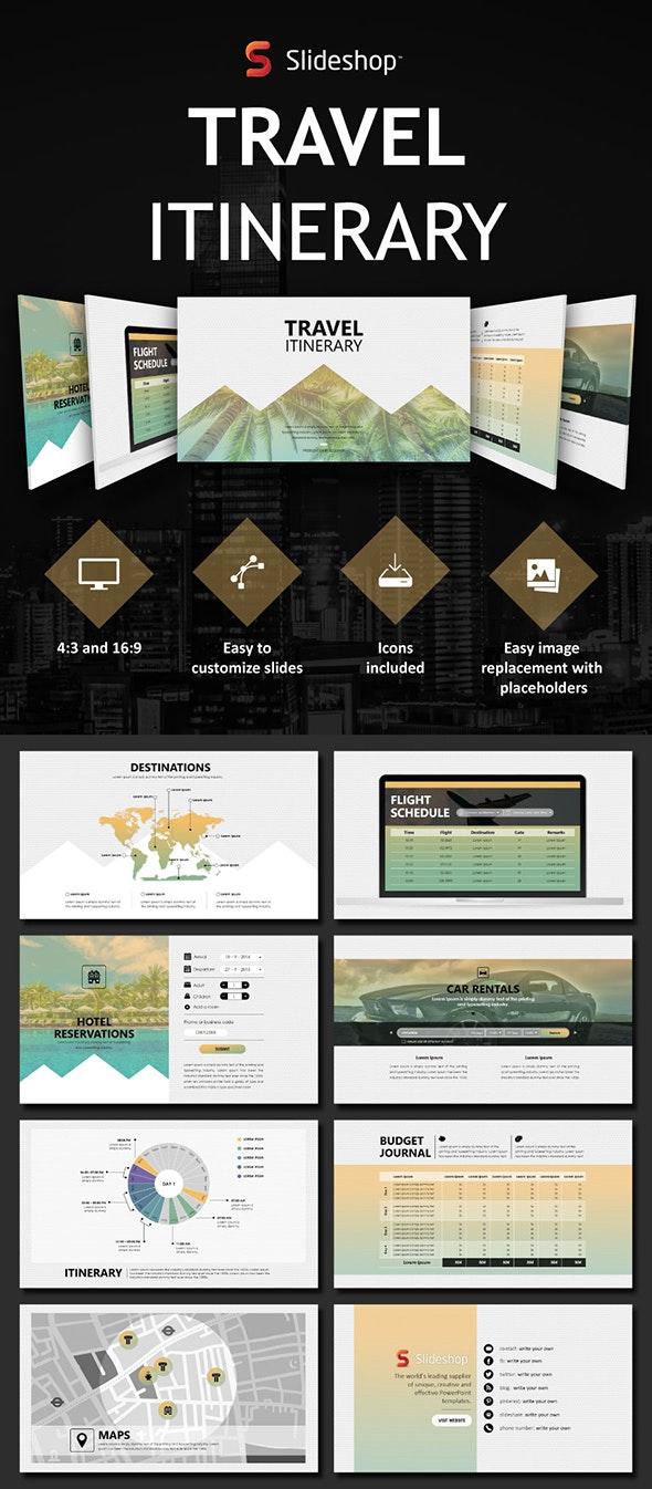 Travel Itinerary - Presentation Templates