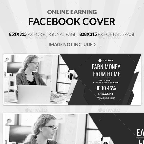 Online Earning Facebook Cover