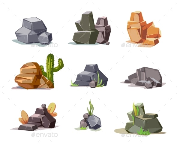 Stones and Nature Rock Set - Miscellaneous Vectors