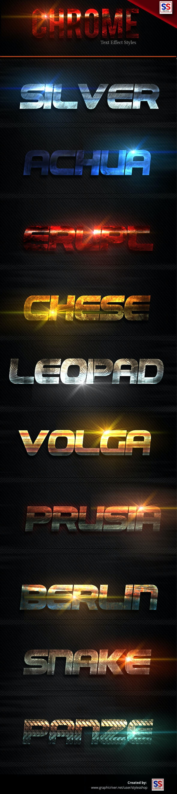 Chrome Text Effect Styles Vol 5 - Text Effects Styles