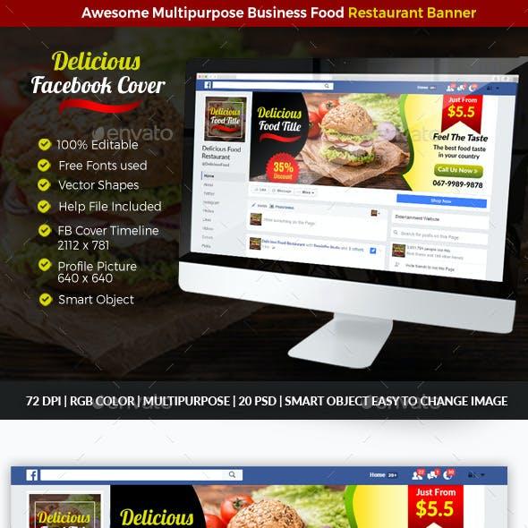 Restauran Food Facebook Cover