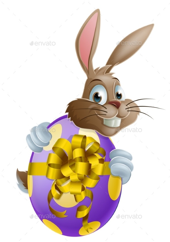 Easter Bunny and Egg - Miscellaneous Seasons/Holidays