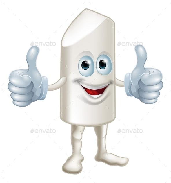 Happy Cartoon Chalk Stick Man - Miscellaneous Characters