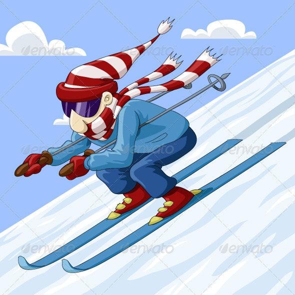 Skier - People Characters