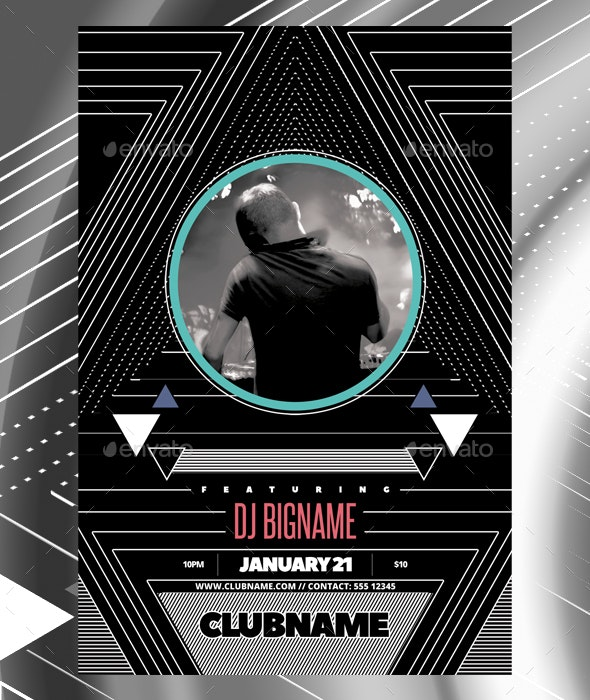 DJ club flyer template - Events Flyers