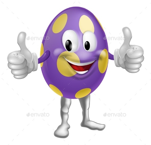 Easter Egg Man Illustration - Miscellaneous Characters