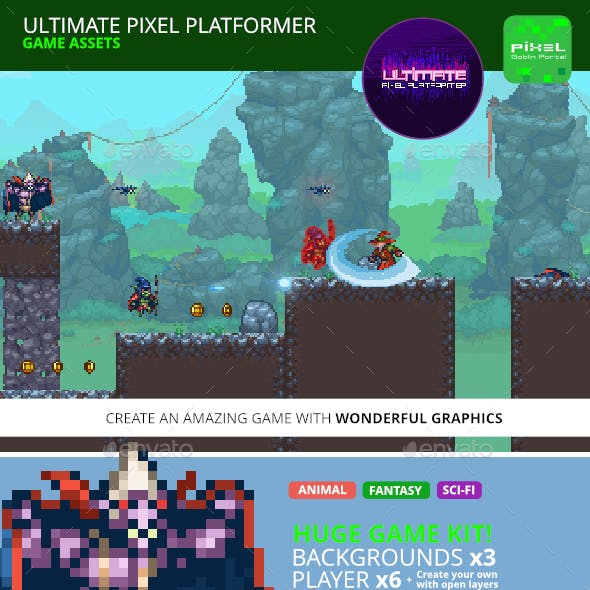 Pixel Platformer Game Kit