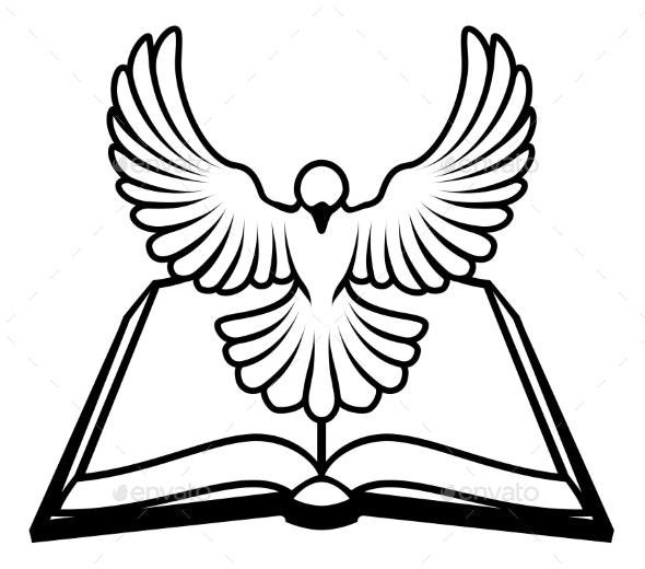 Christian Bible Dove Concept - Religion Conceptual
