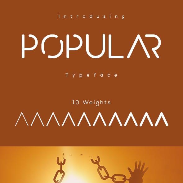 popular typeface