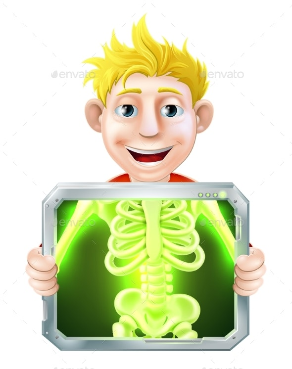 X-Ray Illustration - Health/Medicine Conceptual