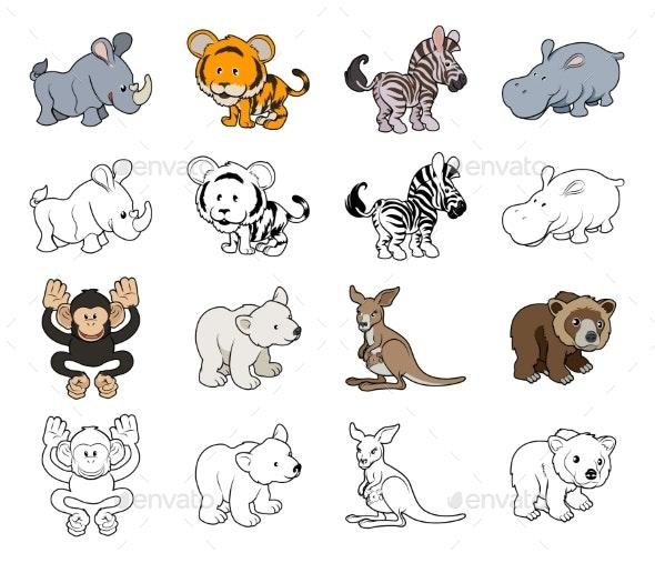 Cartoon Wild Animal Illustrations - Animals Characters