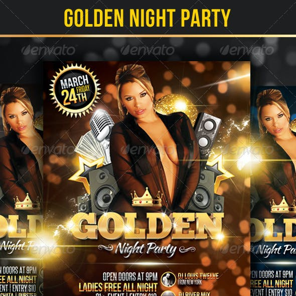 Golden Night Party - Flyer Template