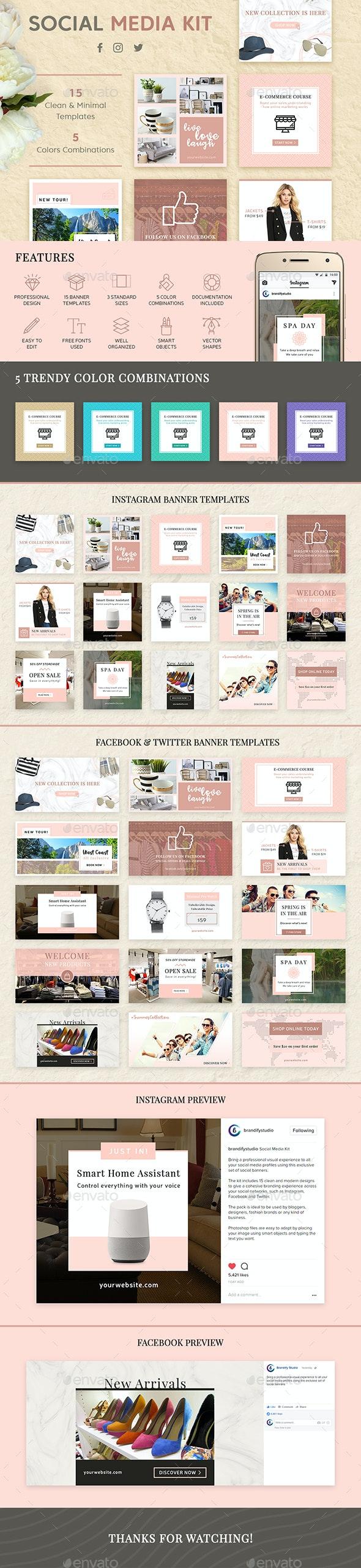Social Media Kit - Social Media Web Elements