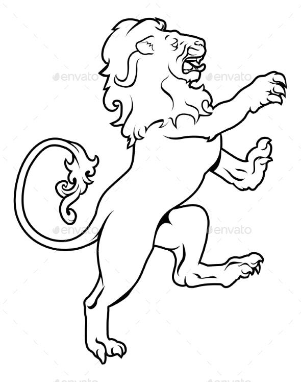 Heraldic Coat of Arms Lion - Miscellaneous Vectors