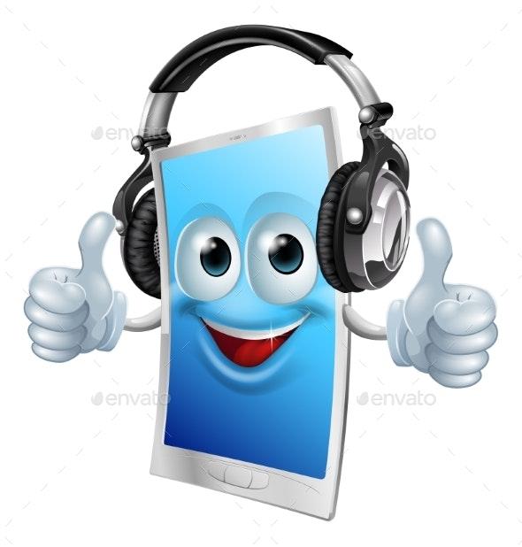 Headphones Phone Man - Miscellaneous Characters
